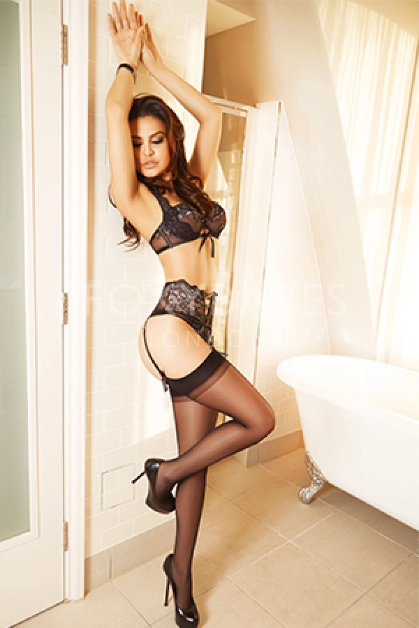 Carla beautiful black lingerie